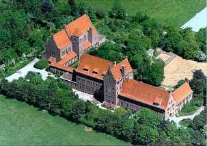 Aerial view of Saint Adelbert Abbey